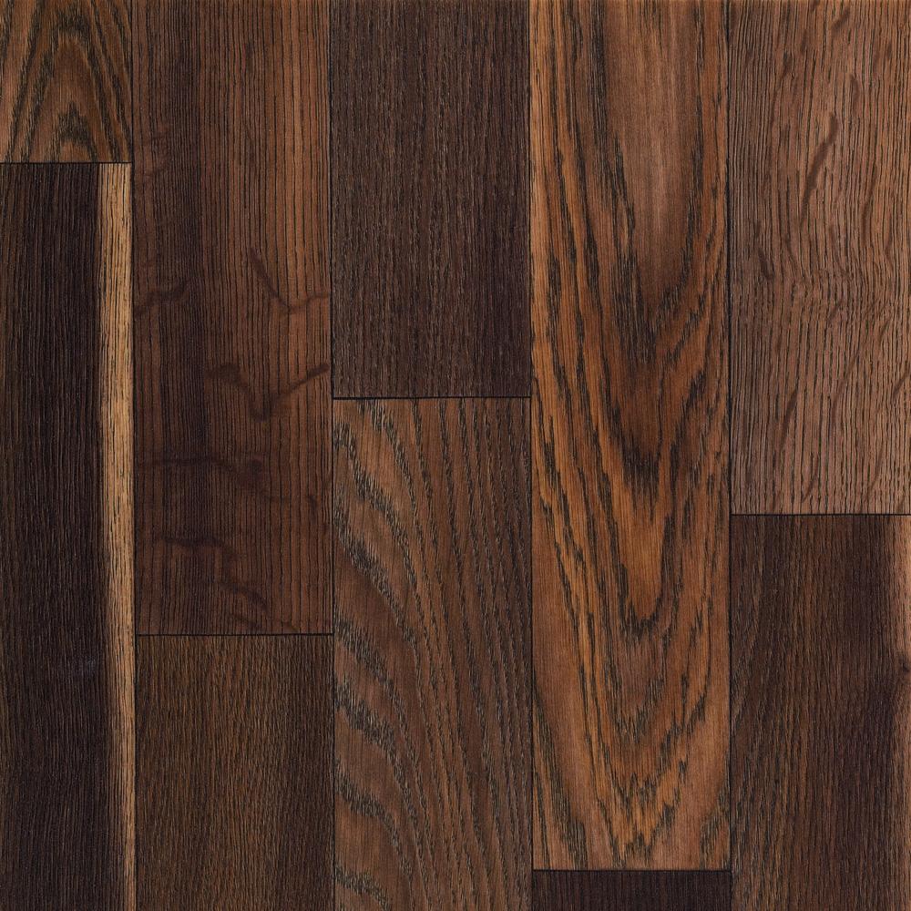 Chocolate brown floor tiles